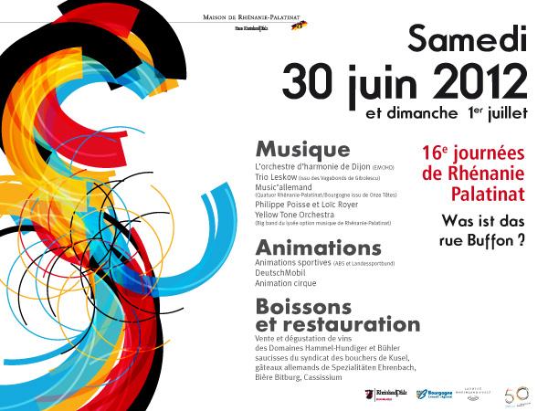 30 juin-1er juillet 2012 : 16èmes Journées de Rhénanie-Palatinat