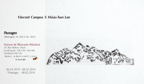 """6 janvier au 8 février 2014: Exposition """"Passages"""""""