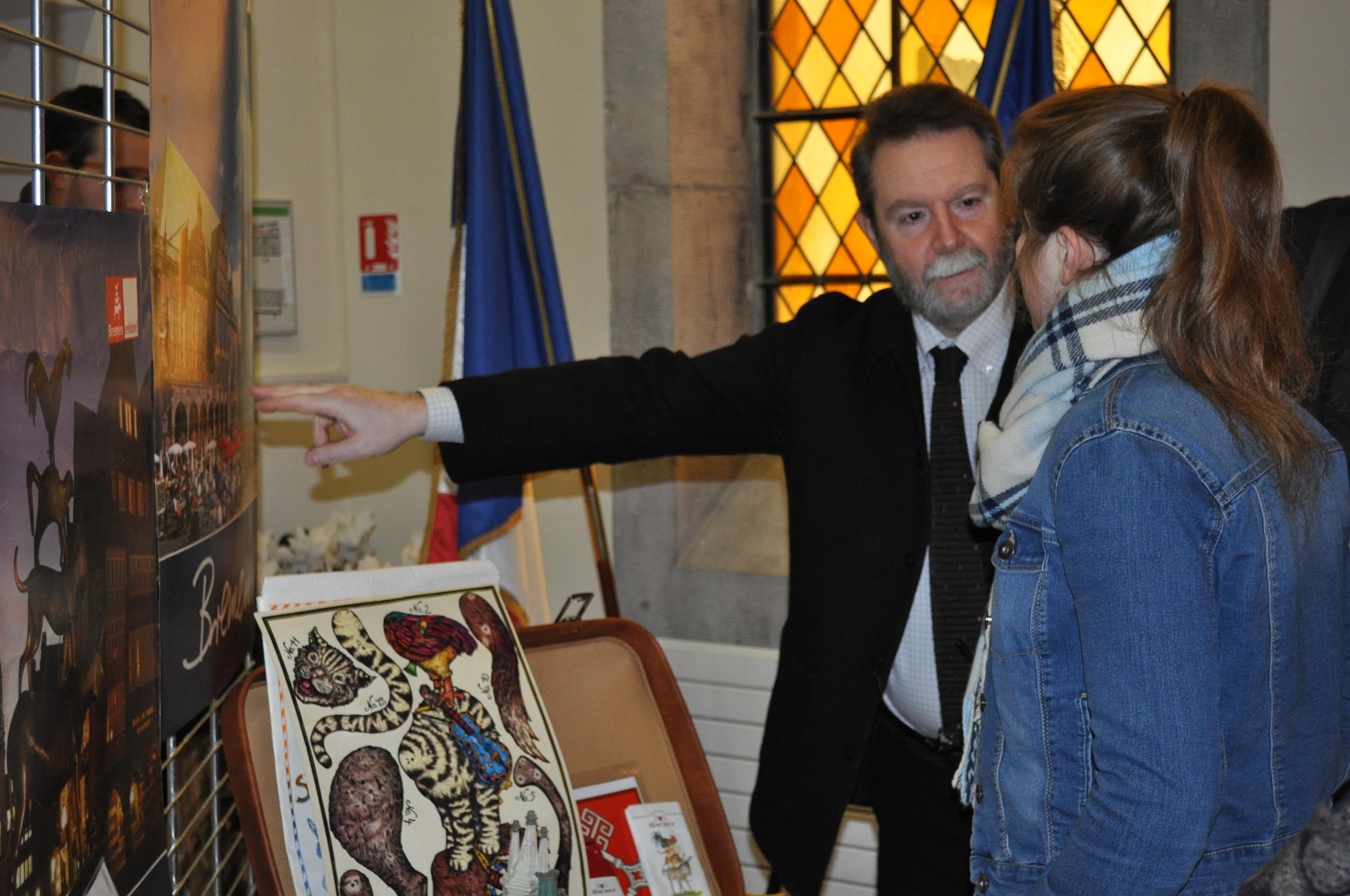 \Visite de Jean-François Chanet, recteur de l'académie de Besançon, Grand Coup de Cœur, 27 janvier 2017 à Besançon\
