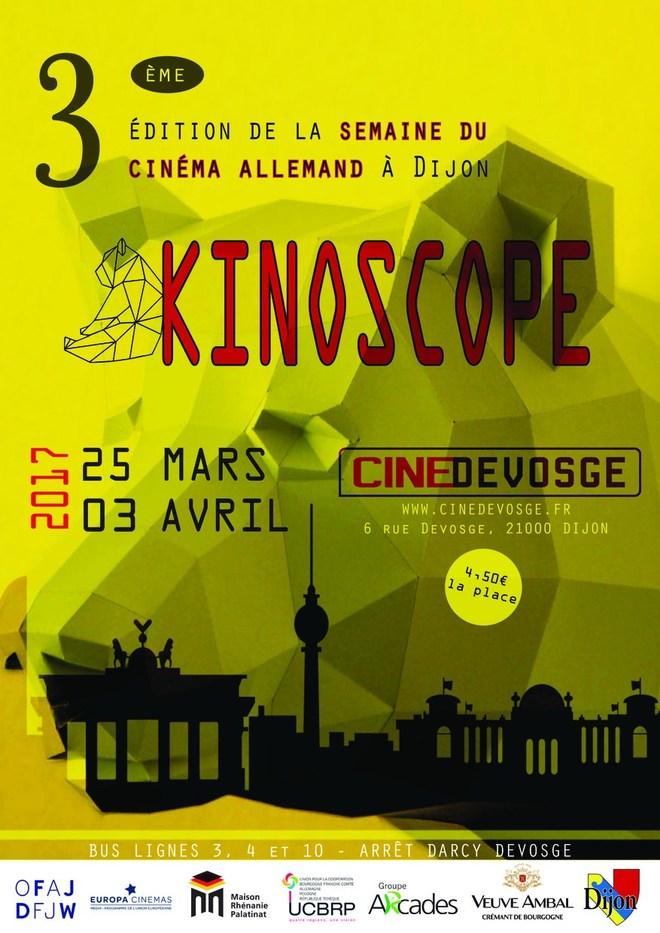 Du 25 mars au 3 avril 2017 : Festival Kinoscope au cinéma Devosge